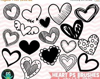 75% OFF SALE Photoshop Heart Brushes, Photoshop Heart Brush Set, Photoshop Brushes, Digital Photoshop Brushes - UZPSB879