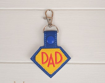 Super Dad Keyring, Father's Day Gift, Gift for Dad, Dad Birthday Gift,  Super Dad Key fob, Super Dad Keychain, Keyring, Dad Gift