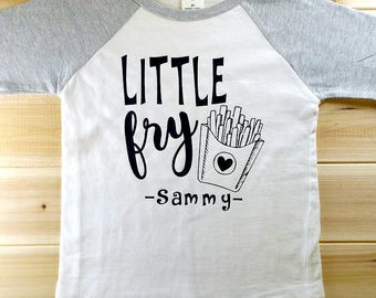 Cute Little Fry Personalized Shirt, Toddler Shirt, Funny Shirt, Kids Shirt, Cute Shirt, Sibling Shirt, Brother Shirt, Sister Shirt