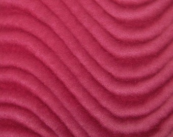 """Wavy Velvet Upholstery Fabric - FUCHSIA - 60"""" Width Sold By The Yard"""