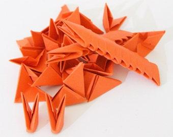 250 Pumpkin Orange 3D Origami Paper Triangles