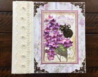 Lovely Lilac Handmade Photo Album