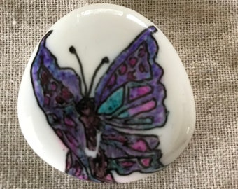 Magical Butterfly, Butterfly Drawing, Butterfly River Stone, Butterfly Art, Beautiful Butterfly