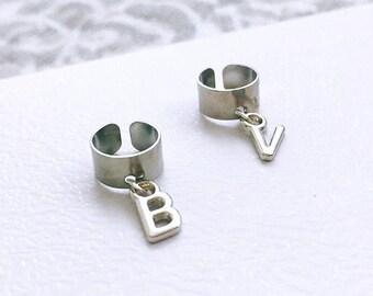 Silver Initial Ear Cuff