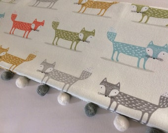 Made to measure roman blind in fabulous fox themed fabric