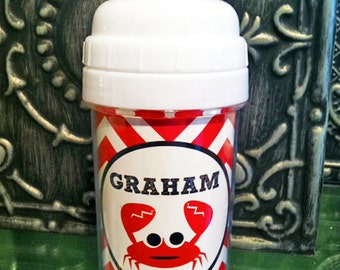 Personalized 10 oz. Sippy Cup - Crab
