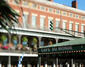 Cafe Du Monde New Orleans Photograph, Louisiana Art, Jackson Square Coffee Shop, French Quarter Fine Art Photography, Home Decor, Wall Art