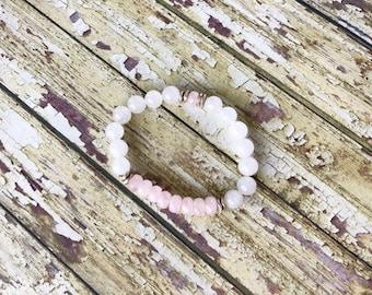 Rose Quartz Crystal Bracelets