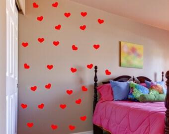 Heart wall decal set