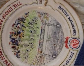 End of an Era-Bolton Wanderers Football Plate