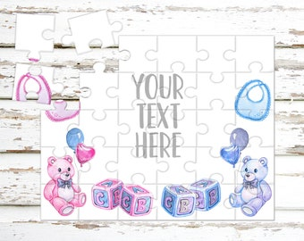 Create Your Own Puzzle - Pregnancy Announcement - Custom Puzzle - Personalized Puzzle - Announcement Ideas - Wedding Announcement - CYOP0161