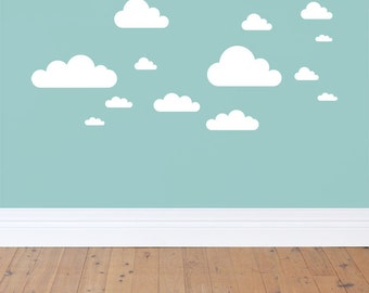 Baby Nursery Clouds Wall Decal Stickers - Clouds, Wall Decor, Wall Stickers, Baby Room Decor,
