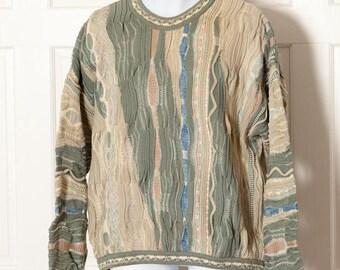 80s 90s Vintage Textured Sweater - Avanzata HARRY ROSEN - XL
