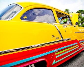 1950's Chevrolet Pro Street Car Photography, Automotive, Auto Dealer, Mechanic, Boys Room, Garage, Dealership Art