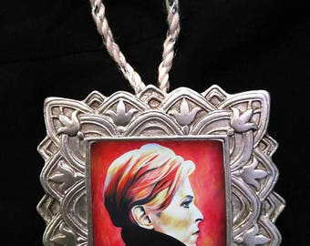 "David Bowie ""Low"" by Mel Fiorentino Christmas Ornament"