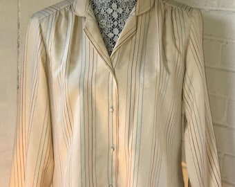 Vintage Striped Blouse / size L/XL / by Lady Arrow