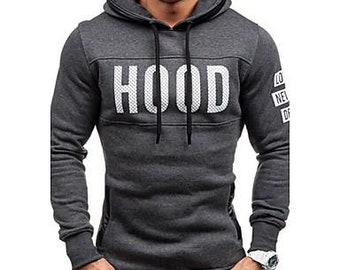 Men's long sleeve hoodie & sweatshirt,cotton print