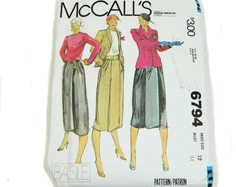 Uncut Sewing Pattern McCall's 6794 Misses' Jacket Skirt Blouse 1979