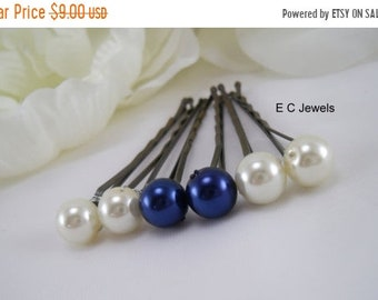 SHOP SALE Something Blue and Ivory Combo Hairpins