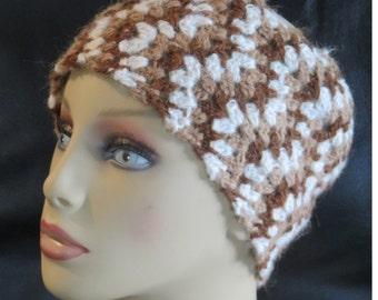 Chevron crochet alpaca headband