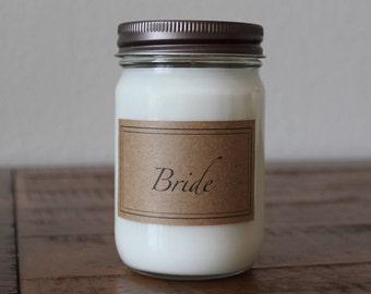 12 Ounce Bride Soy Candle - Bridal Shower Gift - Gift for Bride