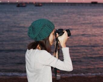 Womens Knit Hat, Slouchy Hat, Womens Winter Slouchy Hat, Womens Fashion, Fall Fashion, Slouch Beanie Hat Seaspray Green