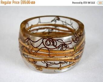 Sale 20% Rabais Vine twig bracelet, tree bracelet, resin and branches bracelet, woodland bangle, nature bracelet, nature bangle, transparent