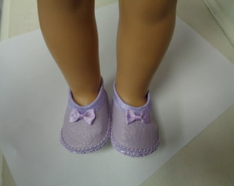 Lavender-Mary Jane- Flats- Doll Shoes-- for 18 inch dolls- fits american girl dolls