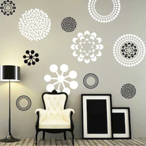 Modern Flower Bedroom Wall Decals Stickers Murals Removable