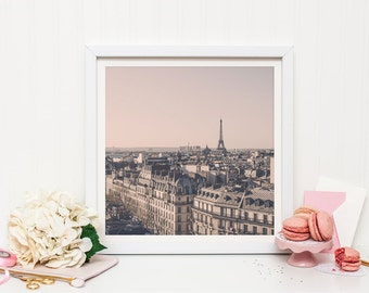 Paris photography print - Paris rooftops print