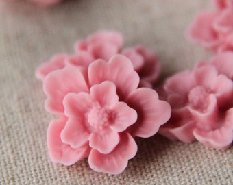 12 pcs of sakura flower cabochon-22mm-rc0166-36-new pink