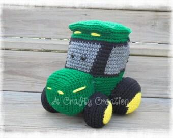 Green Tractor, John Deere Tractor, Crochet Tractor, Tractor, Tractor Green