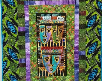 On Sale My Evil Twin 33x45 inch art quilt