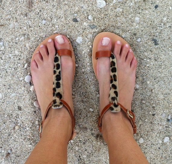Sandals Print SALE Sandals Leopard Sandals Animal Leather S57qWCHxgw