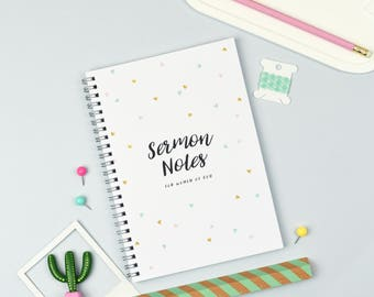 Sermon Notes for Women of God - Journal - A5 Notebook - Birthday Gift - Bible - Wife Gift - Bible Study
