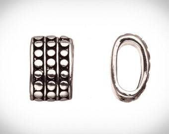 4pcs Vertical rivets antique silver-plated Licorice charms fits Licorice leather fits 10x4mm cord, 15x9mm