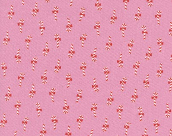 Noel by Cotton + Steel - Candy Canes Pink - Cotton Woven Fabric
