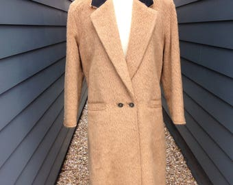Vintage Gianni Versace Alpaca Wool Coat // Vintage Wool Coat // Vintage Alpaca Coat // Vintage Versace Coat // 1980s Gianni Versace