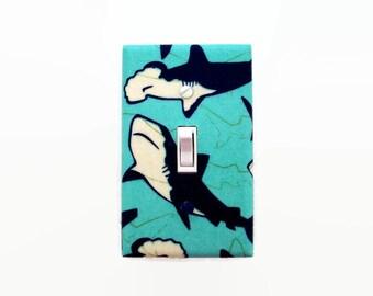 Shark Light Switch Cover - Boys Shark Switch Plate - Shark Bedroom Wall Decor