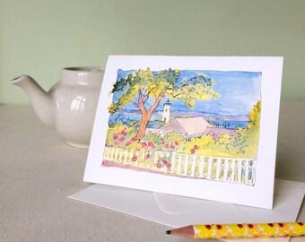 Blank Cards - Edgartown Lighthouse, set of 4