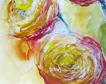 Roses Greetings Card