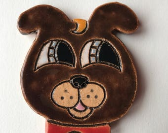 Brown Cuteware Pooch Medallion