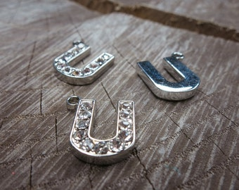 Letter U Pendant Charms ~1 pieces #100606