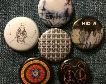"Radiohead | 1"" Button Pinbacks"