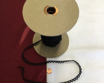Vintage Woven Black Trim (by the yard)