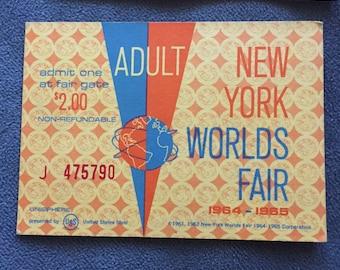 Three World's Fair Tickets 1964-1965