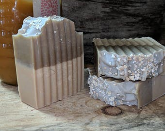 Wildflower Honey Oatmeal Goat Milk Soap
