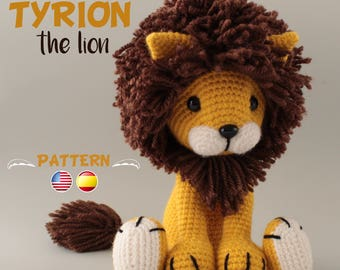 Lion Crochet PATTERN Amigurumi patterns pdf tutorial - TYRION the lion