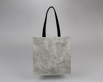 The Standard Tote // Grey and Black WAXED Canvas Tote Bag