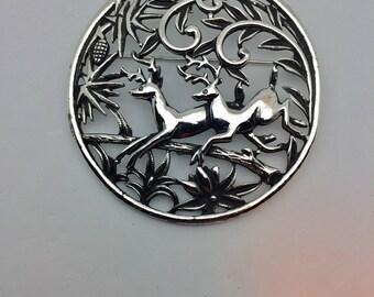 Art Deco Deer Pin / Pendant